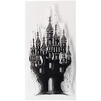 Chuxioner Castle Silicone Clear Clear Stamps for Card Making Decoration and Scrapbooking