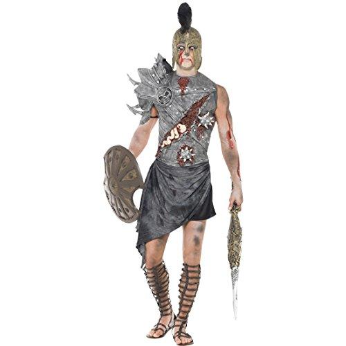 Gladiator Zombiekostüm Römischer Zombie Kostüm M 48/50 Gladiatoren Halloweenkostüm Antike Horror Römerkostüm Monster Römer Faschingskostüm Halloween Horrorkostüm Karneval Kostüme Herren (Antike Kostüme)