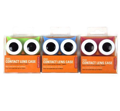 Kontaktlinsen Box Behälter Eule Lens Case farbl. sortiert - Preis pro Stück
