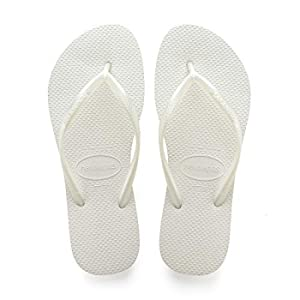 Havaianas Slim 4000030, Infradito Donna, Bianco (Bianco), 39/40 EU