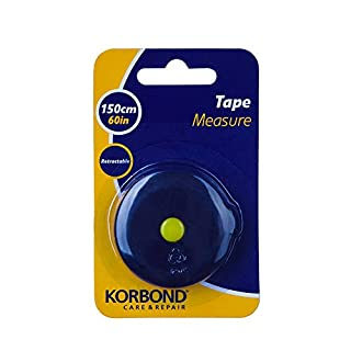 Korbond Retractable Tape 160cm/60inches - Soft Non-Stretch-Large Print-Dressmaking, Crafting, Body Measurements, Tailoring, DIY, Handbag, 160cm