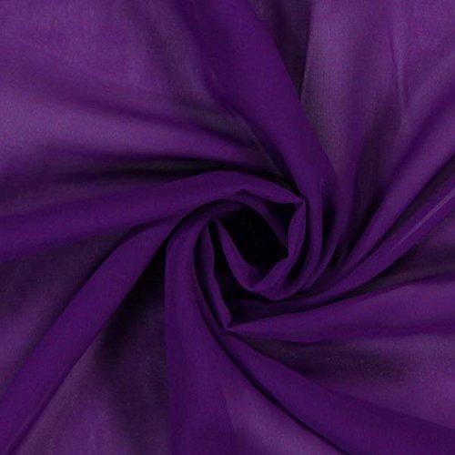 Chiffon – lila — Meterware ab 0,5 m — zum Nähen von Blusen und Hemden, Tuniken und Röcken