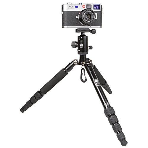 SIRUI T-005X/C-10X Traveler Ultralight Dreibeinstativ *alte Version* (Alu, Höhe: 130cm, Gewicht: 0,83kg, Belastbarkeit: 4kg) schwarz