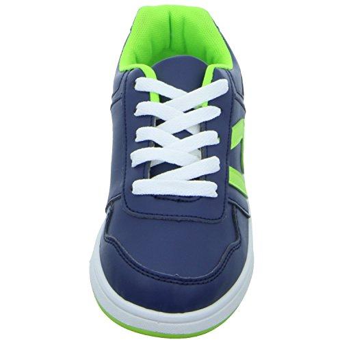 Sneakers PW1732 Jungen Schnürhalbschuh sportlicher Boden Blau (Blau)