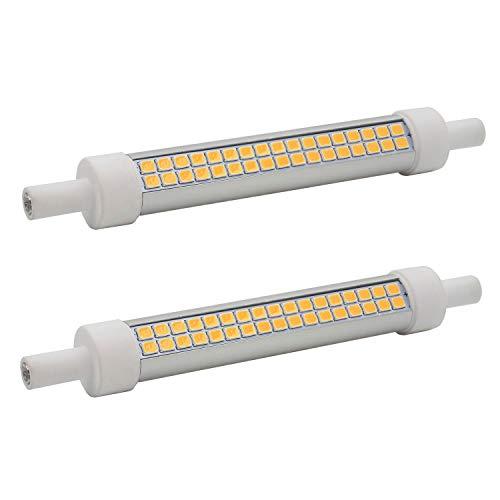 R7S LED-Leuchtmittel, 118 mm, dimmbar, warmes Weiß, 3000 K, 10 W / 800 lm, 100 W, R7S J118 Halogen-Glühbirne, 2 Stück -