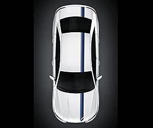 6 Stück Auto Rennstreifen Seite Körper Hood Dekor Zierstreifen Aufkleber Schwarz