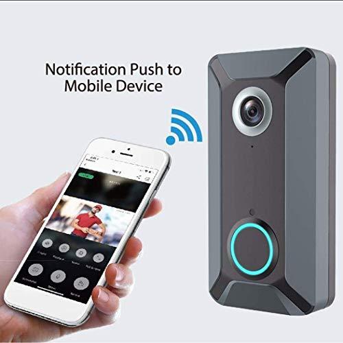 AGGF V6-Video Türklingel Wi-Fi/HD-Video/Wetterbeständiges Zweiwege-Audio/Nachtsicht / 720p-Video mit 166 ° -Objektiv. Überwachen Sie Ihr Zuhause in High Definition,b - 720p High-definition Video