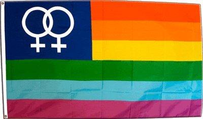 Flagge Regenbogen Lesbisch Venus Women - 90 x 150 cm