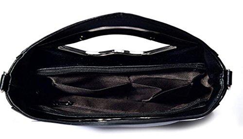 Borse In Pelle Moda Borse Di Tendenza Selvaggia Rivetta Le Donne Spalla Diagonale Pacchetto Black