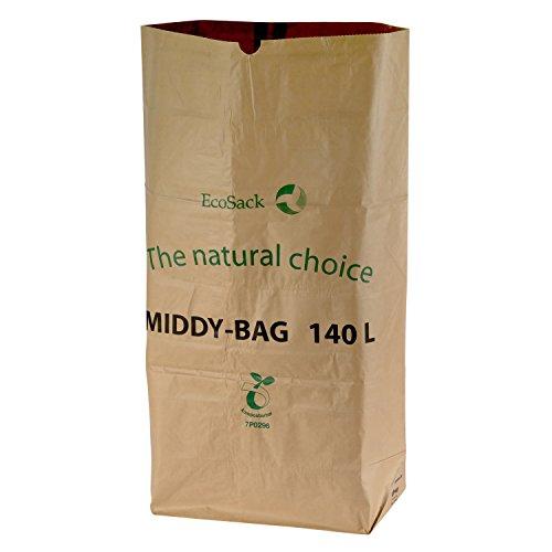 All-Green, 140 litri (140L) sacchi compostabili di carta per porta rifiuti carrellabili, 10 Sacchi