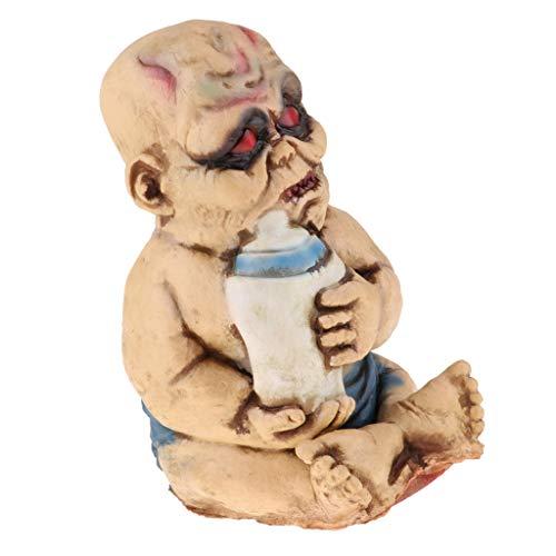 koration zu Halloween Zombie Geist Babypuppe Deko - B ()