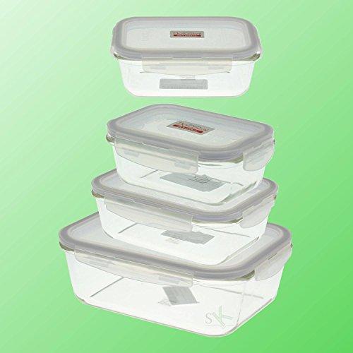 Lock & Lock Boroseal–Recipiente para conservar Depósito, los Restos Box, salchichas, queso Box, Combi (Vidrio Borosilicato), rectangular, en diferentes tamaños