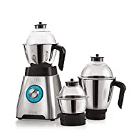Cello Grind-N-Mix Alpha 1000w Steel Mixer Grinder (Black and Silver)