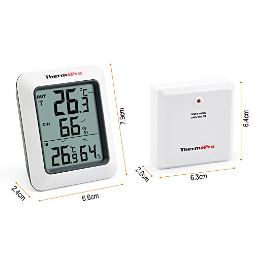 Thermopro TP60 Funk Thermo Hygrometer, Klima-Monitor mit Funk-Außensensor - 7