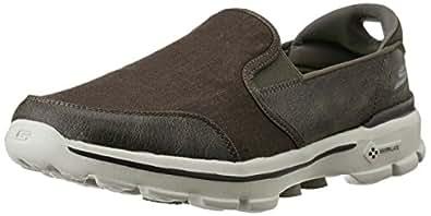 Skechers Men's Go Walk 3 Khaki Nordic Walking Shoes - 10 UK/India (45 EU) (11 US)