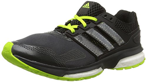 adidas RESPONSE BOOST 2 TF Laufschuhe Herren dark grey-core black-solar yellow