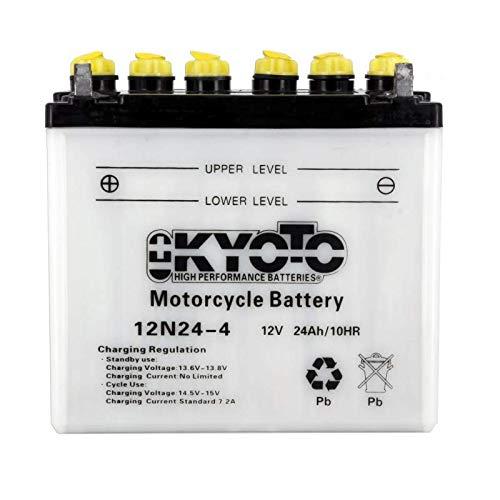 Kyoto - Motorrad Batterie 12N24-4 / 12N24-4A 12V 24Ah - Akku(s)