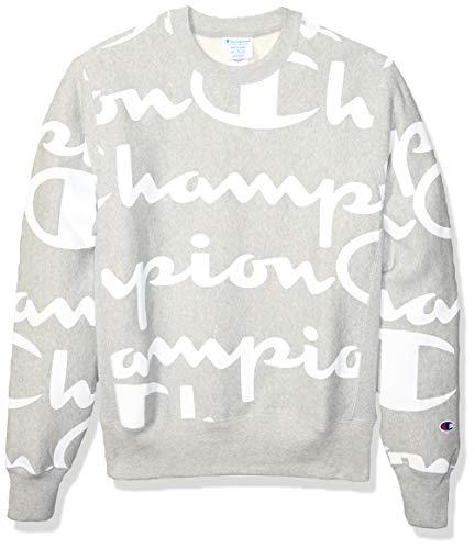 Champion LIFE Men's Reverse Weave Crew-Print - Weave-lange Ärmel Pullover
