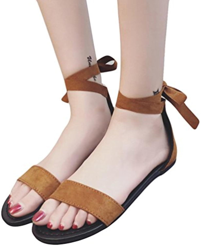les sandales de plats elecenty perle escarpins outdoor wedge perle elecenty bohemia chaussures (Marron , uk: 3) b07c2qydc7 parent b50379
