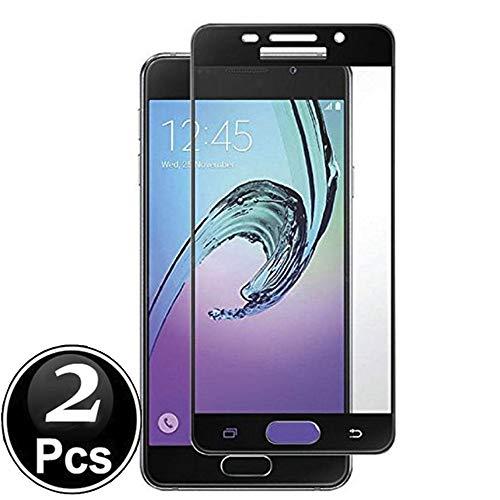 Scott-DE Samsung Galaxy A5 2017 Schutzfolie, 3D Curved Edge Glas Folie 9H Härte Panzerglas [Anti-Kratzen] [Anti-Bläschen] Bildschirmschutzfolie für Samsung Galaxy A5 2017 [X2-Black]