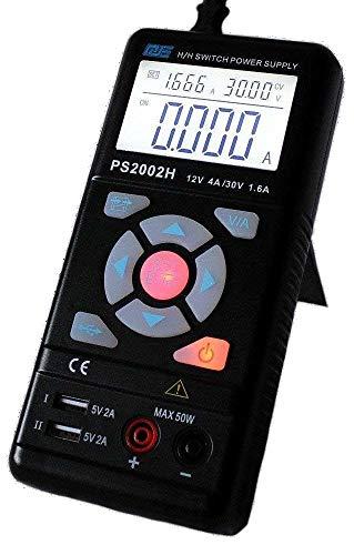 Komerci Mobiles Labornetzgerät Schaltnetzteil Regelbar Stabilisiert 0-30V 0-3,75A Max. 50W USB Ausgänge Schwarz 30 Volt 3 Ampere