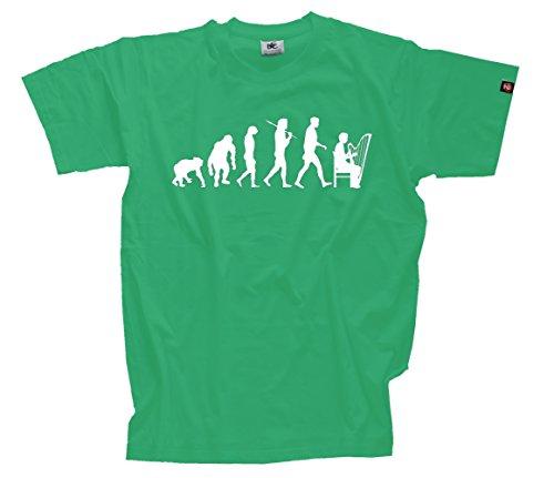 T-Shirt Kelly S Harfenspieler Harfe Streichinstrument Evolution