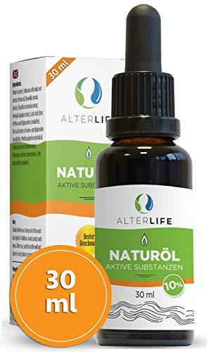 Alterlife 3000mg 30 ml Öl mit aktiven Verbindungen, Tropfen, wohltuende für Geist und Körper, vitalisierend, ein Naturprodukt mit Zertifikat, Inhaltsstoffe aus Deutschland