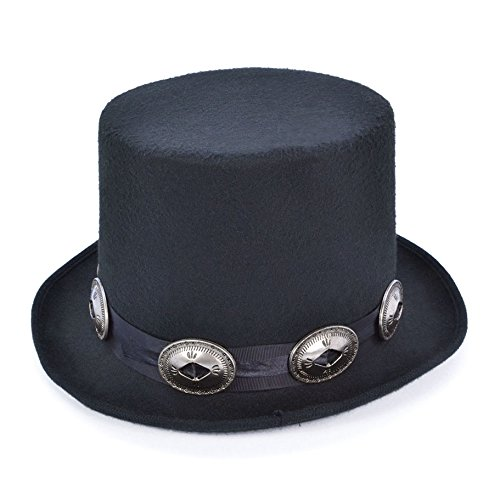 Slash Top Hat with Buckles