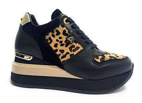 ModHylda Fondo Zeppa Leder Eu Sneaker Running D20ap02Neroleopardo Damen Schwarz Größe41 Apepazza Leopard 45L3ScARjq