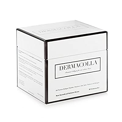 "Dermacolla 30 drinkable premium collagen ampoules ""made In Germany"", dietary supplement for beautiful skin from the inside out, monthly pack"