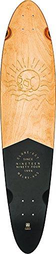 Landyachtz Deck (Globe Hg Globe Pinner Classic Longboard Skateboard Deck, schwarz/Mahagoni, Größe 40)