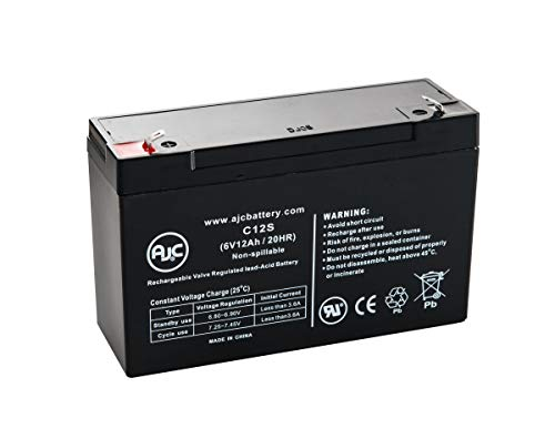 Batterie Leoch DJW6-12 6V 12Ah Acide scellé de Plomb - Ce Produit est Un Article de Remplacement de la Marque AJC®