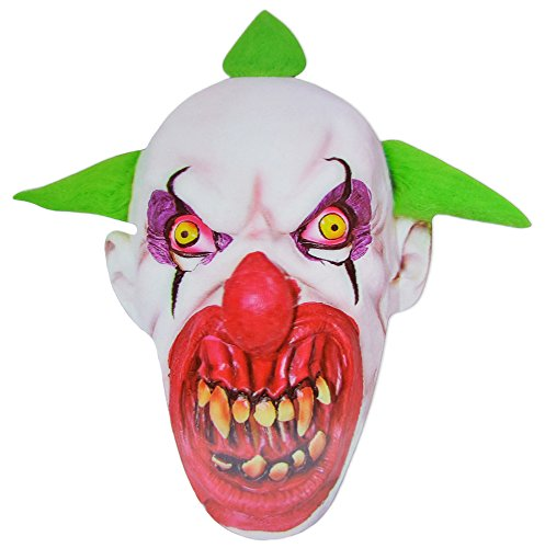 Killer Clown 3D Effektbild zu Halloween - Gruselige Horror Mottoparty Dekoration