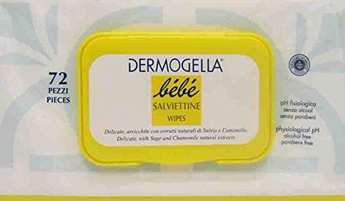 DERMOGELLA BEBE' Salviettine Detergenti 72 Pezzi