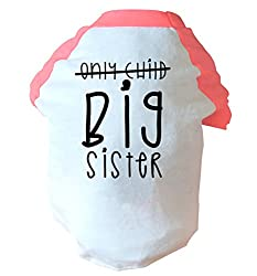 Only child big sister two toned dog vest | pink or blue | Flox Creative