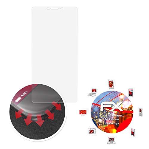 atFolix Schutzfolie passend für Elephone P9000 Edge Folie, entspiegelnde & Flexible FX Bildschirmschutzfolie (3X)