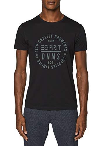 ESPRIT Herren 999EE2K800 T-Shirt, Schwarz (Black 001), X-Large (Herstellergröße: XL)