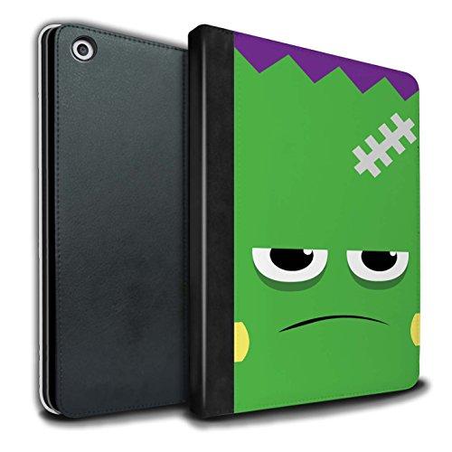 le/Case/Brieftasche für Apple iPad 9.7 (2017) tablet / Frankenstein Muster / Halloween Zeichen Kollektion (Frankenstein Halloween-maske)