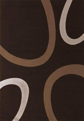Lalee  347138791  Moderner Designer Teppich / Muster : Kreise Retro / Neu / Braun / Grösse : 160 x 230 cm