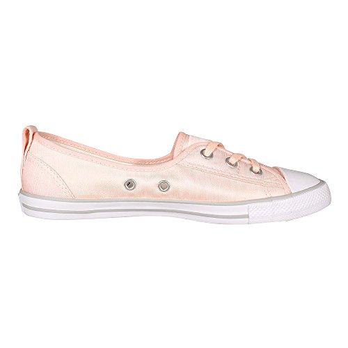 Converse Chucks Ballerina 551656C Gris Dainty All Star Ballet dentelle Souris Blanc Noir Vapor Pink/ White/ Mouse