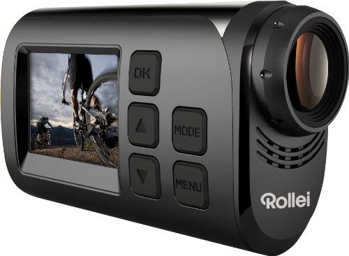 Rollei S-30 WiFi Plus Actioncam und Helmkamera (3,8 cm (1,5 Zoll) TFT Display, 2 Megapixel CMOS Sensor, Full HD Video-Auflösung) schwarz