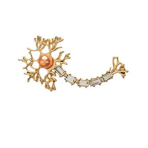 LFDHZ Reagenzglas Spritze Blutdruck Darm Pins Medical Jewelry MD Geschenk Arzt Krankenschwester Medical School Schmuck Neuron-Gold