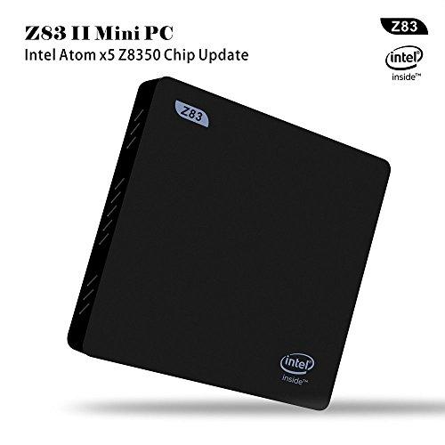 Mini PC Windows 10,Beelink Z83 II Mini Desktop PC RAM 2GB ROM 32GB - Intel Atom x5-Z8350 Processor / HD Graphik 400 / Gigabit Ethernet / Dual-Band WiFi / BT 4.0