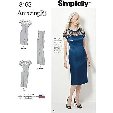 Simplicity 8163Miss et plus Amazing Fit robe occasion spéciale,