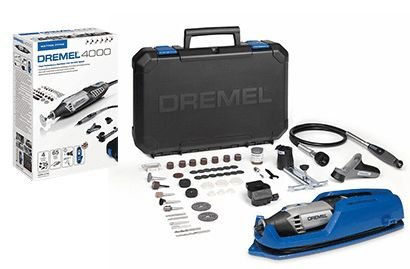 Dremel 4000 Rotary Tool 175 W, Rotary Multi Tool Kit with 4 Attachment 65  Accessories, Variable Speed 5000-35000 rpm for Cutting, Carving, Sanding,
