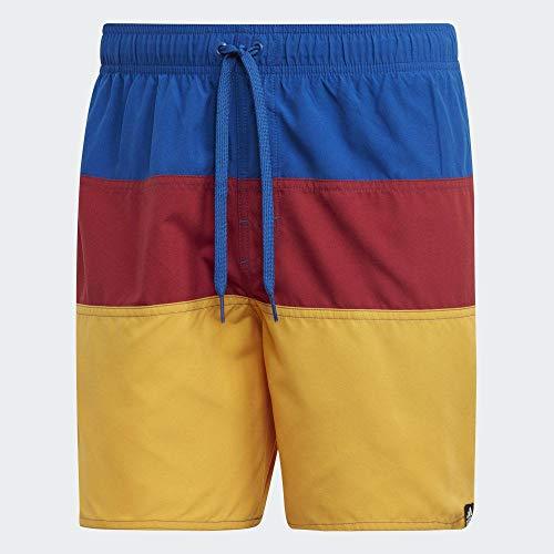 Adidas Color Block Swim Shorts Bañador, Hombre, Multicolor Collegiate Royal/Active Maroon, 2XL