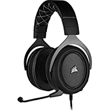 Corsair HS60 PRO Surround Gaming Headset (7.1 Surround Sound, Adjustable Memory Foam Ear Cups, Noise-Cancelling Detachable Microphone with PC, PS4, Xbox One, Switch and Mobile Compatibility) - Black