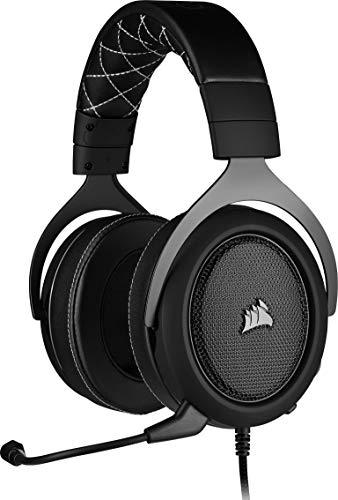 Corsair HS60 PRO Surround Casque de Gaming Son surround 7.1, Mémoire ajustables Oreillettes, Unidirectionnel Antibruit Microphone avec PC, PS4, Xbox One, Switch et mobiles Compatibilité - Noir