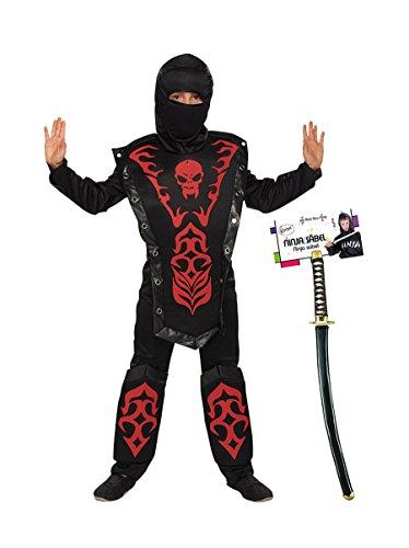 Ideal Set Kämpfer Kostüm mit Schwert Kinder Junge Fasching Karneval Kinderkostüm: Größe: 116 (Schwert Kämpfer Kostüm)