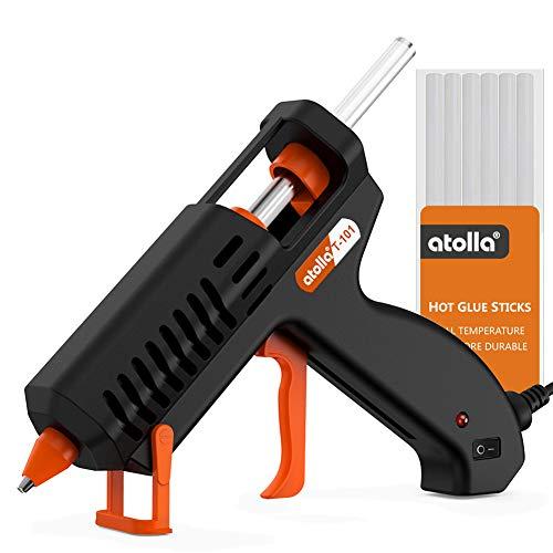 Heißklebepistole, atolla T101 Klebepistole mit 10 Klebestick Haushalt Heissklebepistole für DIY Kunst Handwerk und Reparatur